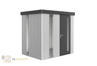 Biohert-berging-Neo_1B_zilvergrijs met donkergrijze-deur