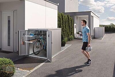 Biohort mini garage zilvergrijs - 1