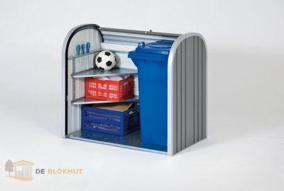 Biohort Storemax 120 Zilvergrijs Metallic open