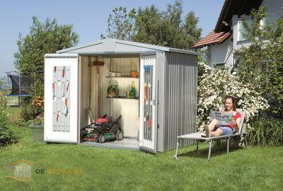Biohort tuinhuis Europa 3 zilvergrijs 1