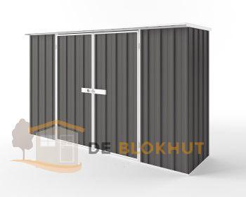 Metalen tuinkast - Endurashed - antraciet - 300x78cm