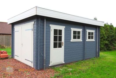 Houten garage Garage 3755 platdak  375x550cm - 50mm Incl. EPDM