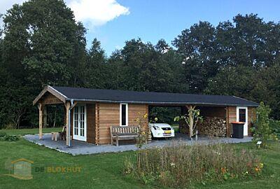 Lugarde houten Garage G11 - 1400x400cm - 44mm