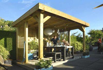 Hillhout overkapping living modulair excellent 300