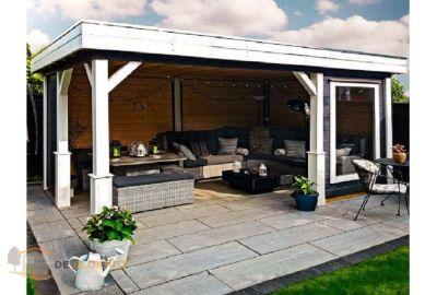Vrijstaande veranda Lugarde VV21 - 300x480cm in 44mm