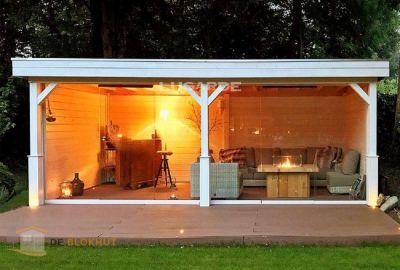 Vrijstaande veranda Lugarde VV12 - 300x600cm in 28mm