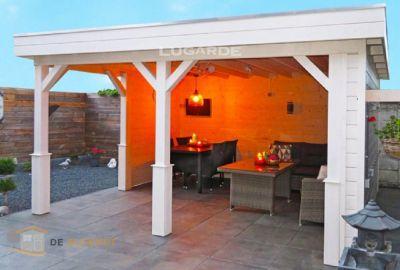Vrijstaande veranda Lugarde VV13 - 360x420cm in 44mm