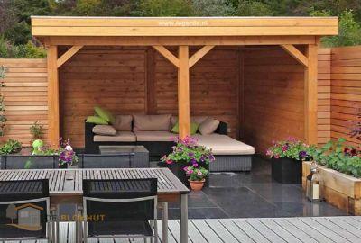Vrijstaande veranda Lugarde VV7 - 300x360cm in 28mm