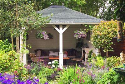 Vrijstaande veranda Lugarde VV4 - 300x360cm in 28mm