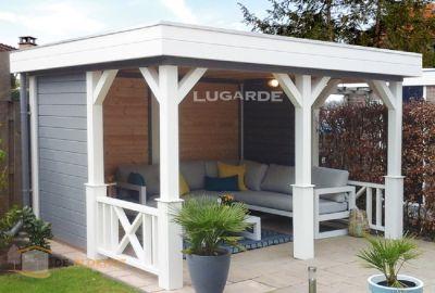 Vrijstaande veranda Lugarde VV23 - 360x300cm in 28mm