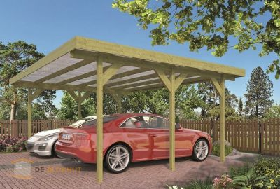 Dubbele houten carport Tuindeco